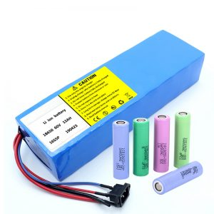 Batería de litio 18650 60V 12AH batería recargable para scooter de iones de litio