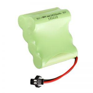 Batería recargable NiMH AA2400 6V Juguetes eléctricos recargables Herramientas Paquete de batería