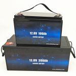 Batería solar de iones de litio del carro de golf de la batería 12V 100Ah / 200Ah del ciclo profundo LiFePO4