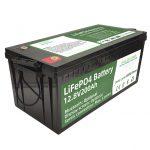 Batería vendedora caliente del rv de los ciclos de 2.56KWh lifepo4 batteri 12v 200Ah 6000