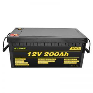 Batería adaptable 12.8v 200ah del coche eléctrico 12V Lifepo4 con la batería de 2000 ciclos de vida lifepo4