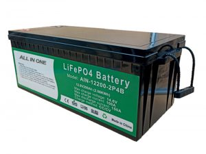 TODO EN UNO 2.56KWh 2000 ciclos 12v batería lifepo4 200ah paquete de litio para vehículo eléctrico