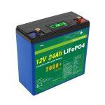 Batería de ciclo profundo solar 24v 48v 24ah Lifepo4 UPS 12v 24ah batería