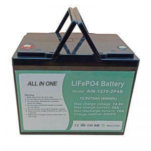 Batería recargable de 896Wh lifepo4 12V 70Ah para vechile eléctrico