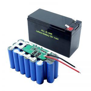 TODO EN UNO 18650 3S5P Batería de litio de 12 voltios Batería de litio recargable de 11 Ah