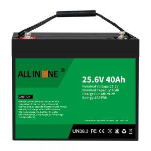 Batería / reemplazo de fosfato de hierro y litio de 25.6V 40Ah