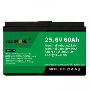 Seguridad de 25.6V 60Ah / batería LFP de larga duración para RV / Caravana / UPS / Carro de golf 24V 60Ah