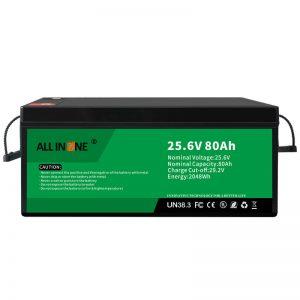 25.6V 80Ah batería LFP de seguridad / larga duración para RV / Caravana / UPS / carro de golf 24V 80Ah