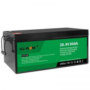 Batería de ión de litio del reemplazo de plomo ácido de 38.4V 80Ah LiFePO4, 36V 80Ah