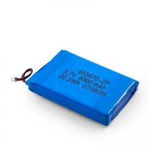 Batería 3.7v del polímero de litio del li de 3.7v / 7.4v 3000mah con 3000mah