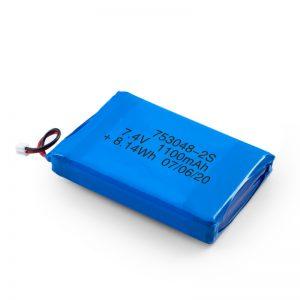 Batería recargable LiPO 753048 3.7V 1100mAh / 7.4V 1100mAH / 3.7V 2200mAH