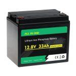 TODO EN UNO 26650 lifepo4 12V 33ah batería de fosfato de hierro y litio