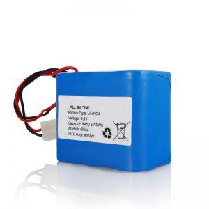 Batería del litio 26650 32650 de la recarga de 6.4V 12Ah LiFePO4 con el conector para la luz solar