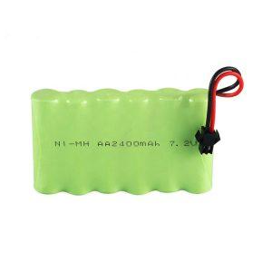 Batería recargable NiMH AA 2400mAh 7.2V